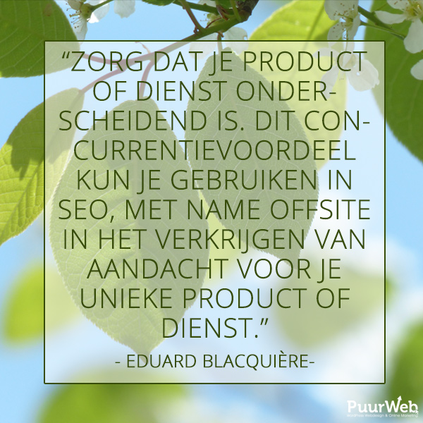 SEO quote Eduard Blacquière