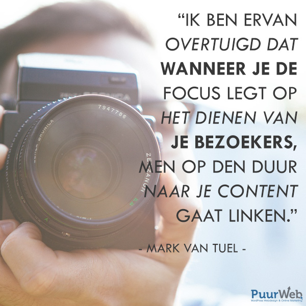 SEO quote Mark van Tuel