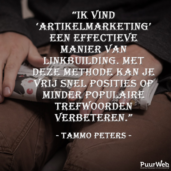 SEO quote Tammo Peters